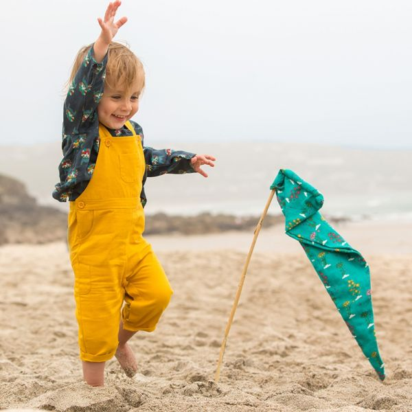 Little Green Radicals Gold Classic Dungarees