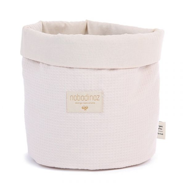 Nobodinoz Panda Basket Honeycomb Medium Pink