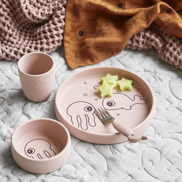 Done By Deer Silicone Dinner Set Sea Friends