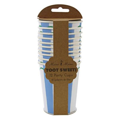 Meri Meri Toot Sweet  Blue/Pink Party Cups Blue