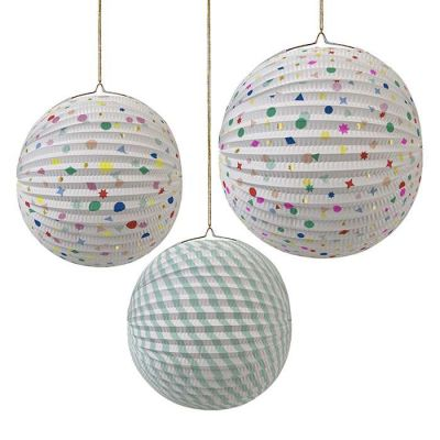 Meri Meri Charms Paper Globes Party Decorations