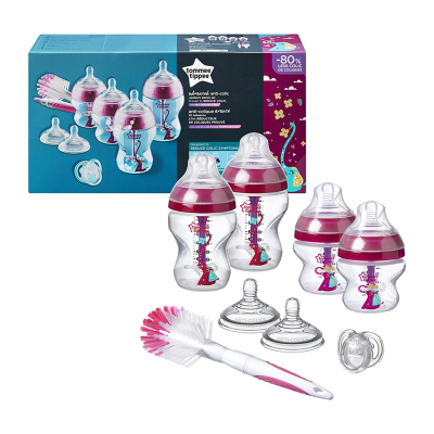 Tommee Tippee AAC Anti Colic Bottle Starter Kit Pink