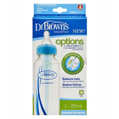 Dr. Brown's Narrow Neck Options Baby Bottle 250ml 2pack