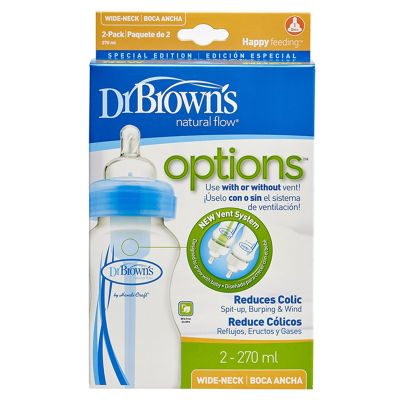 Dr. Brown's Wide Neck Options Baby Bottle 270ml 2pack