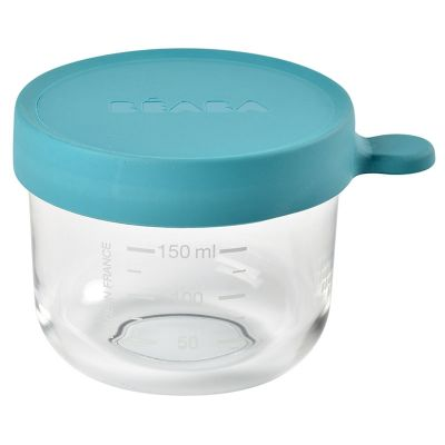 Beaba Conservation Jar Glass 150ml Blue