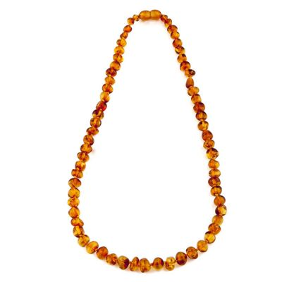 Child of Sun Amber Baby Necklace Polished Cognac