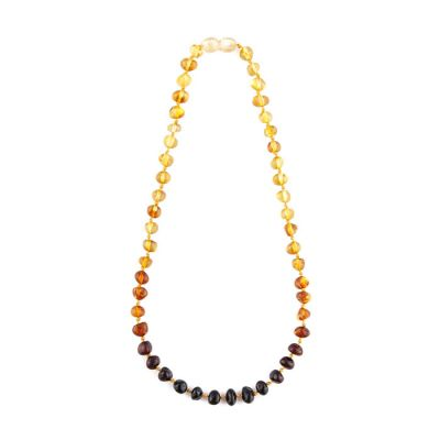 Child of Sun Amber Baby Necklace Polished Rainbow