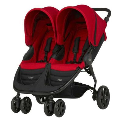 Britax B-Agile Double Stroller Flame Red