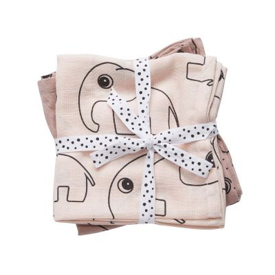 Done By Deer Burp Cloth 2 Pack Contour