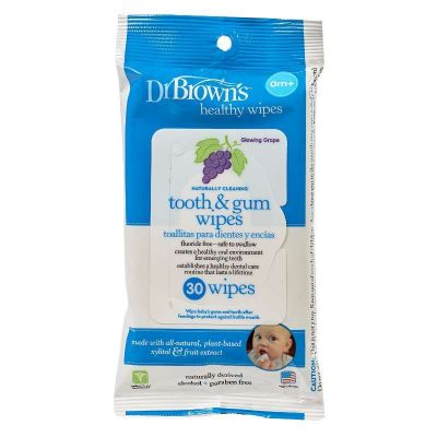 Dr. Brown's Tooth & Gum Wipes 30 Pack