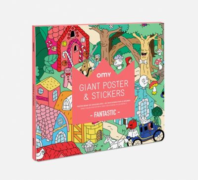 OMY Castles and Legends Fantastic Giant Poster & Stickers