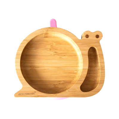 Eco Rascals Snail Bamboo Suction Plate
