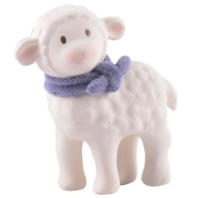 Tikiri Lamb Natural Rubber Toy