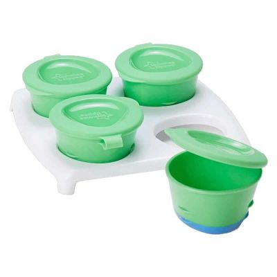 Tommee Tippee Explora Pop Up Freezer Pots & Tray Green
